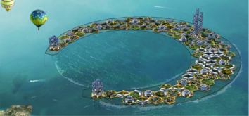 "An Imagined ""Water World"" Credit: The Seasteading institute"